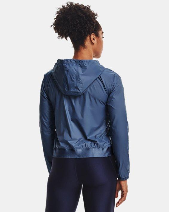 Damen UA Wendbares Oberteil aus Webstoff mit durchgehendem Zip, Blue, pdpMainDesktop image number 2
