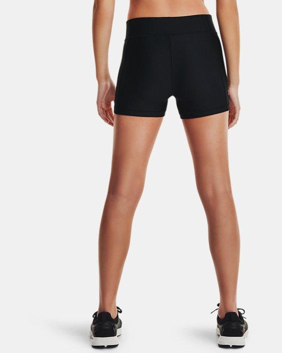 Pantaloncini HeatGear® Armour Mid-Rise da donna, Black, pdpMainDesktop image number 2