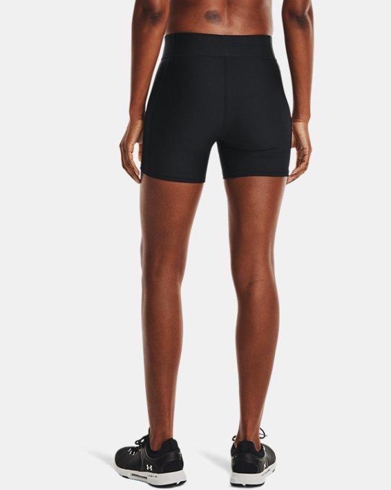 Pantalón corto medio HeatGear® Armour de talle medio, Black, pdpMainDesktop image number 2