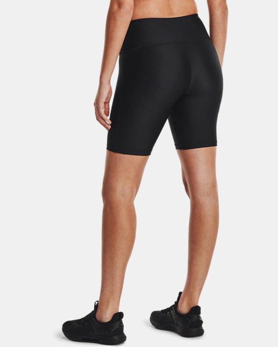 Women's HeatGear® Armour Bike Shorts, Black, pdpMainDesktop image number 2