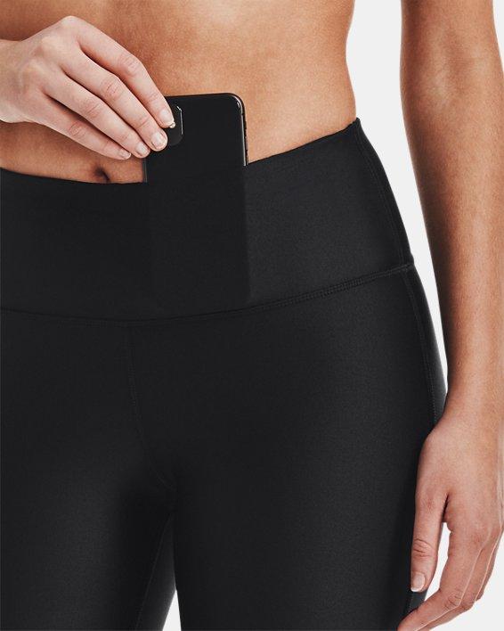 Women's HeatGear® Armour Bike Shorts, Black, pdpMainDesktop image number 3