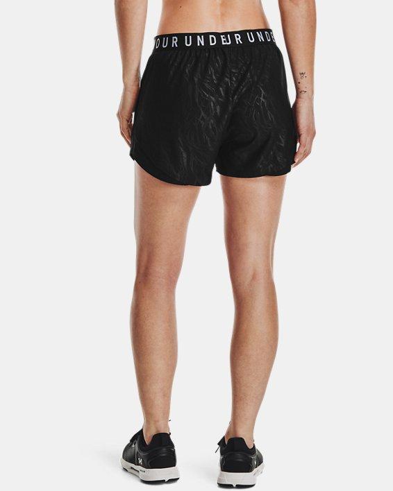 Women's UA Play Up 3.0 Emboss Shorts, Black, pdpMainDesktop image number 2