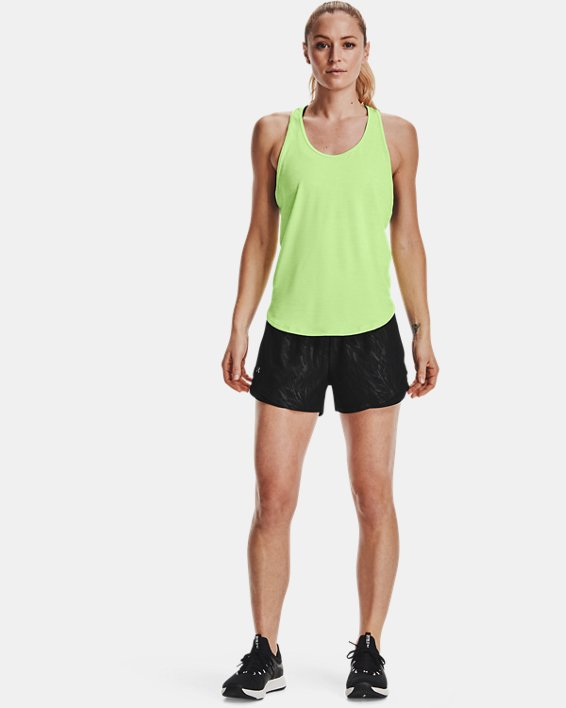 Women's UA Play Up 3.0 Emboss Shorts, Black, pdpMainDesktop image number 0
