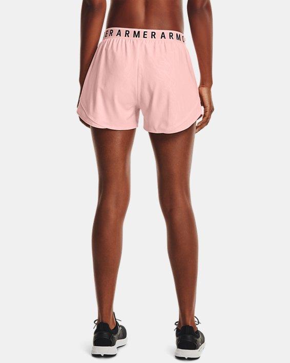 Women's UA Play Up 3.0 Emboss Shorts, Pink, pdpMainDesktop image number 2