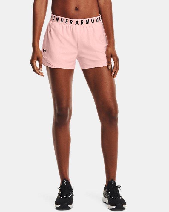 Women's UA Play Up 3.0 Emboss Shorts, Pink, pdpMainDesktop image number 1