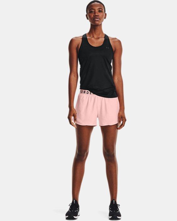Women's UA Play Up 3.0 Emboss Shorts, Pink, pdpMainDesktop image number 0