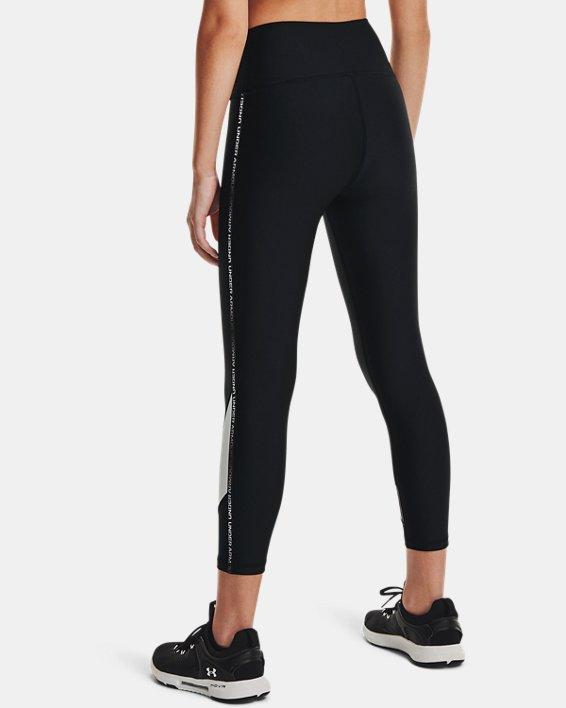 Legging longueur chevilles HeatGear® Armour No-Slip Waistband Taped pour femme, Black, pdpMainDesktop image number 2