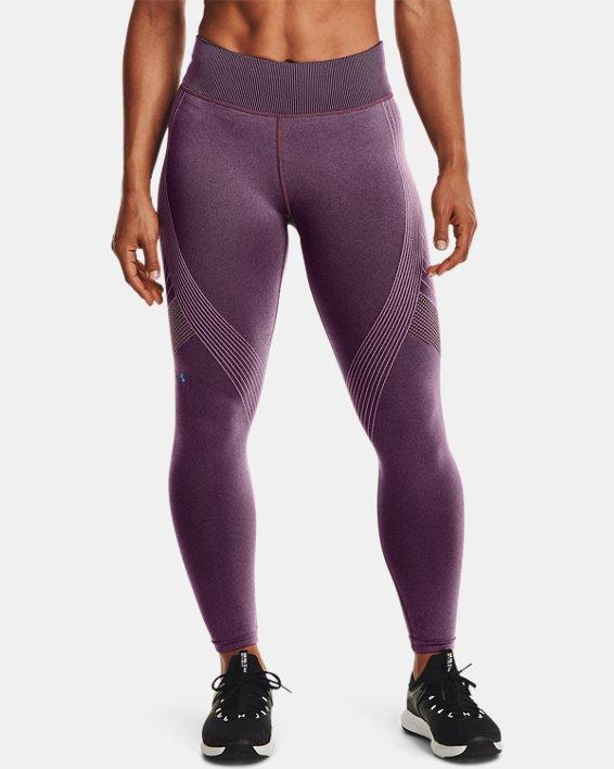 Women's UA RUSH™ Seamless Ankle Leggings, Purple, pdpMainDesktop image number 0