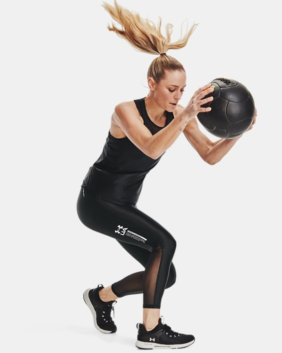 Women's UA Iso-Chill Ankle Leggings, Black, pdpMainDesktop image number 6