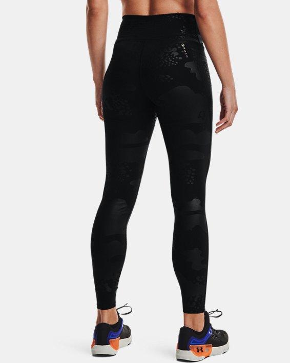 Women's UA RUSH™ No-Slip Waistband Tonal Full-Length Leggings, Black, pdpMainDesktop image number 2