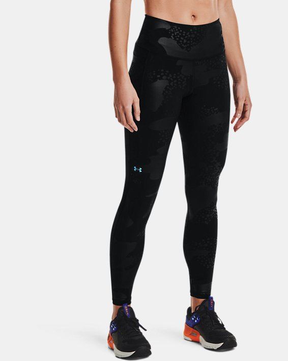 Women's UA RUSH™ No-Slip Waistband Tonal Full-Length Leggings, Black, pdpMainDesktop image number 1