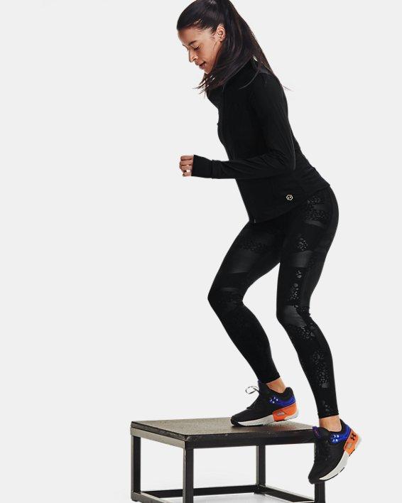 Women's UA RUSH™ No-Slip Waistband Tonal Full-Length Leggings, Black, pdpMainDesktop image number 6