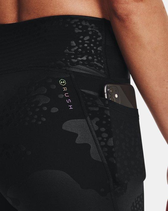 Women's UA RUSH™ No-Slip Waistband Tonal Full-Length Leggings, Black, pdpMainDesktop image number 3