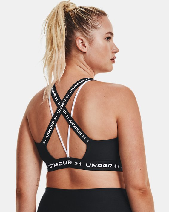 Women's UA Crossback Low Sports Bra, Black, pdpMainDesktop image number 7