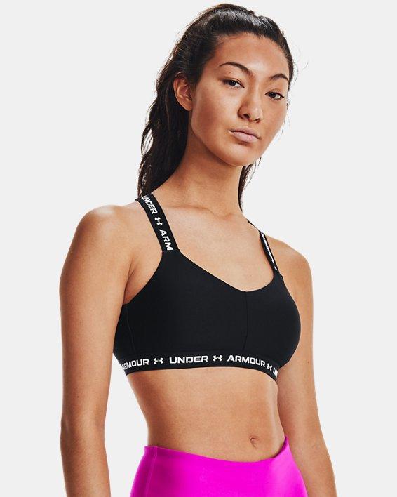 Women's UA Crossback Low Sports Bra, Black, pdpMainDesktop image number 0
