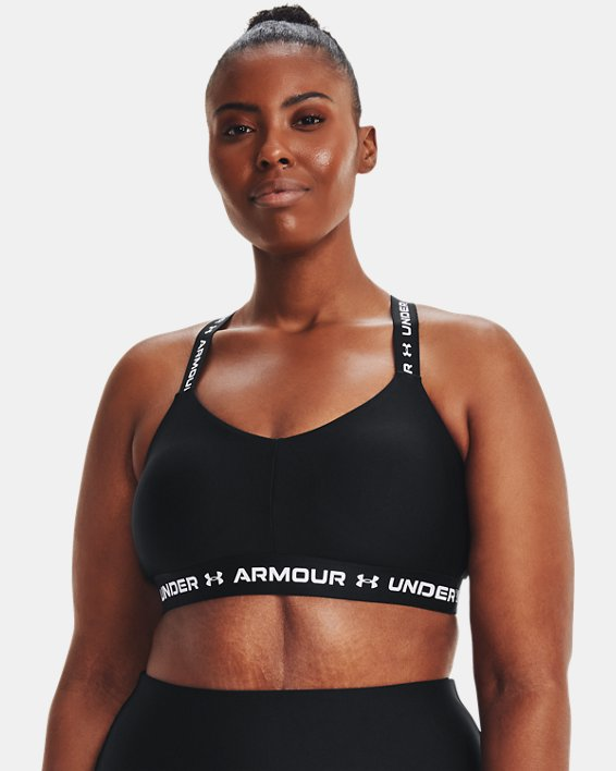 Women's UA Crossback Low Sports Bra, Black, pdpMainDesktop image number 3