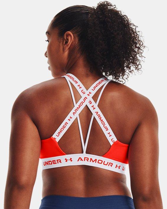 Damen UA Crossback Low Sport-BH, Orange, pdpMainDesktop image number 5