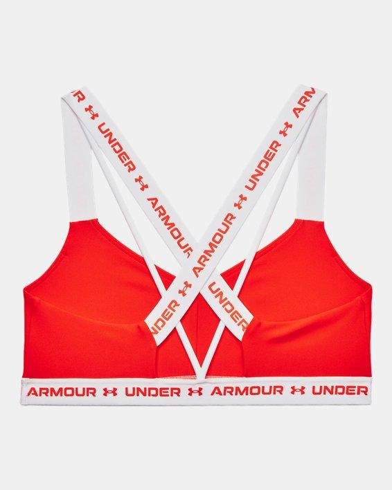 Damen UA Crossback Low Sport-BH, Orange, pdpMainDesktop image number 7