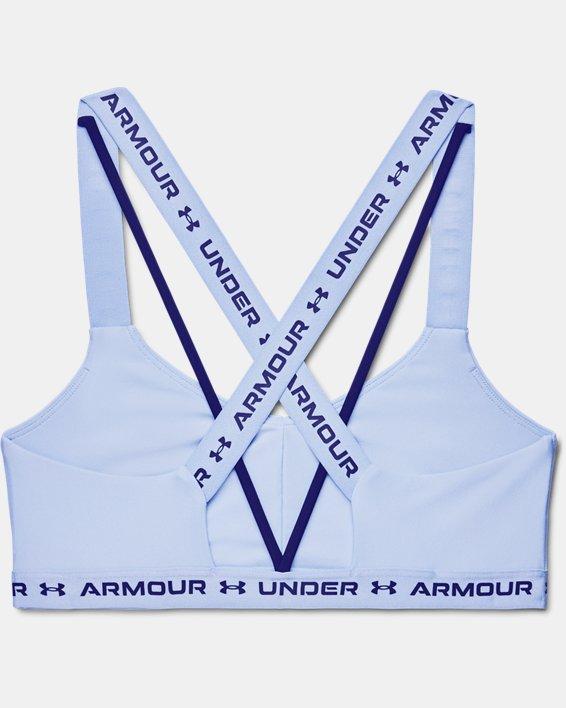 Damen UA Crossback Low Sport-BH, Blue, pdpMainDesktop image number 9