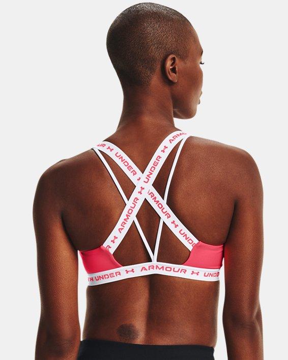 Damen UA Crossback Low Sport-BH, Pink, pdpMainDesktop image number 1