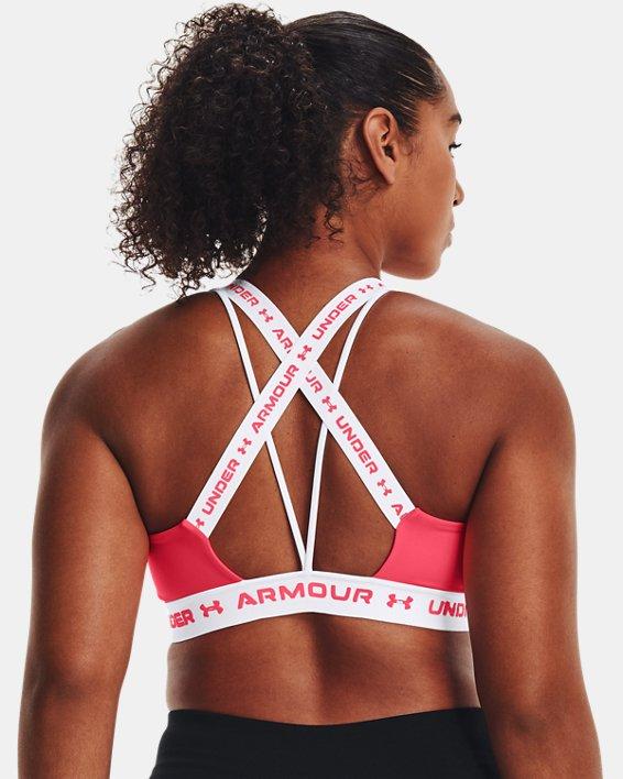 Damen UA Crossback Low Sport-BH, Pink, pdpMainDesktop image number 6
