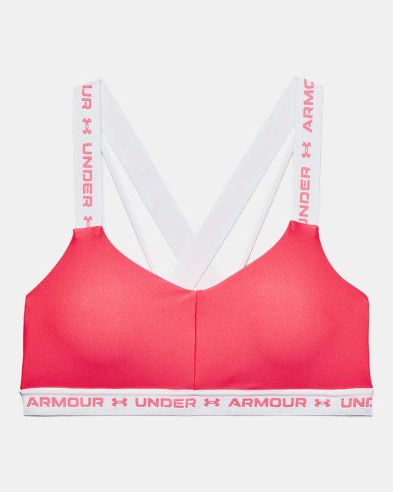 Damen UA Crossback Low Sport-BH, Pink, pdpMainDesktop image number 8