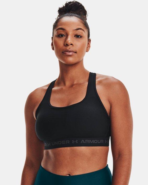 Reggiseno sportivo Armour® Mid Crossback da donna, Black, pdpMainDesktop image number 3