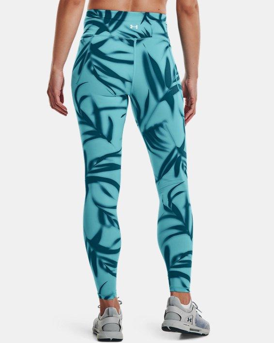 Damen UA Meridian Printed Leggings (lang), Green, pdpMainDesktop image number 2