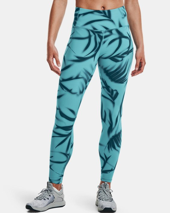 Damen UA Meridian Printed Leggings (lang), Green, pdpMainDesktop image number 1