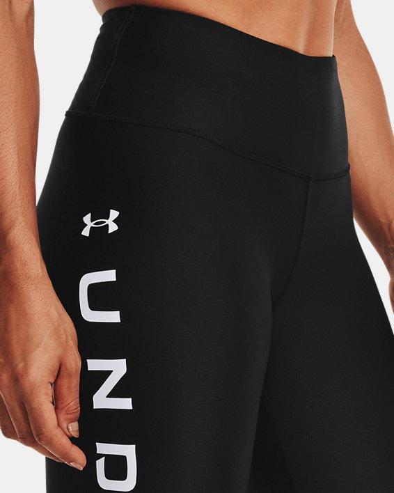 Leggings HeatGear® Armour No-Slip Waistband Branded Full-Length da donna, Black, pdpMainDesktop image number 3