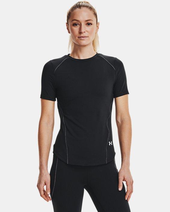 Women's UA HydraFuse Short Sleeve, Black, pdpMainDesktop image number 1