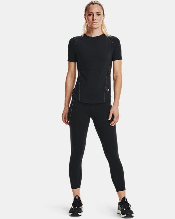 Women's UA HydraFuse Short Sleeve, Black, pdpMainDesktop image number 0