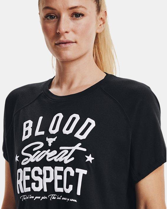 Camiseta de manga corta Project Rock BSR para mujer, Black, pdpMainDesktop image number 5