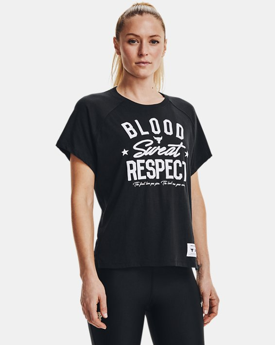 Camiseta de manga corta Project Rock BSR para mujer, Black, pdpMainDesktop image number 1