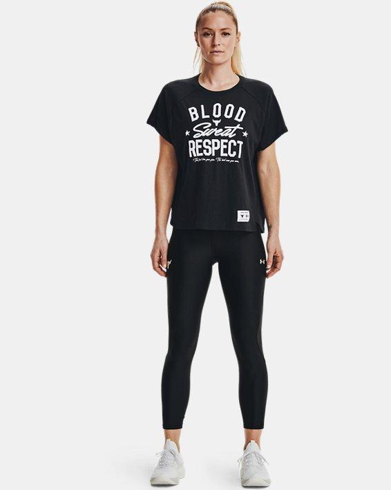 Camiseta de manga corta Project Rock BSR para mujer, Black, pdpMainDesktop image number 0