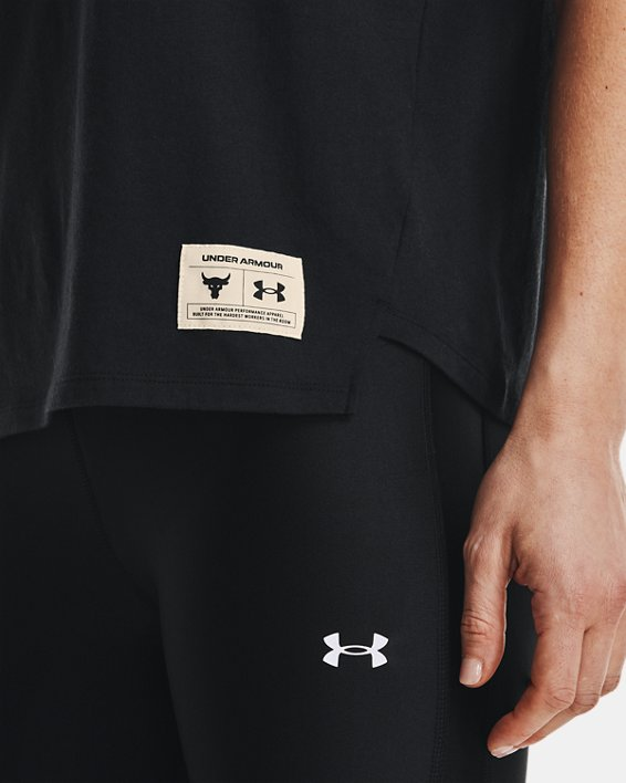 Women's Project Rock Bull Short Sleeve, Black, pdpMainDesktop image number 3