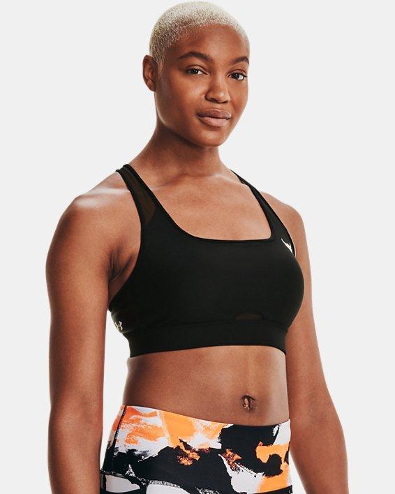 Women's Project Rock Crossback Mid Sports Bra, Black, pdpMainDesktop image number 4