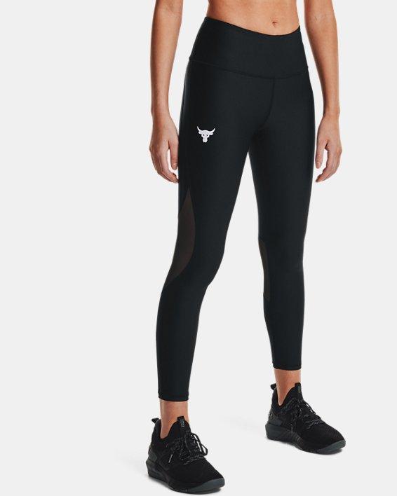 Women's Project Rock HeatGear® Ankle Leggings, Black, pdpMainDesktop image number 1