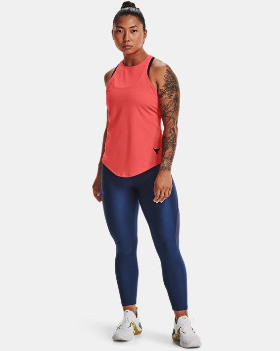 Damen Project Rock HeatGear® Tanktop, Red, pdpMainDesktop image number 2