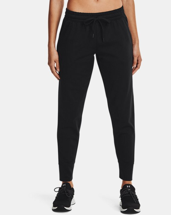 Women's UA RUSH™ Tricot Pants, Black, pdpMainDesktop image number 1