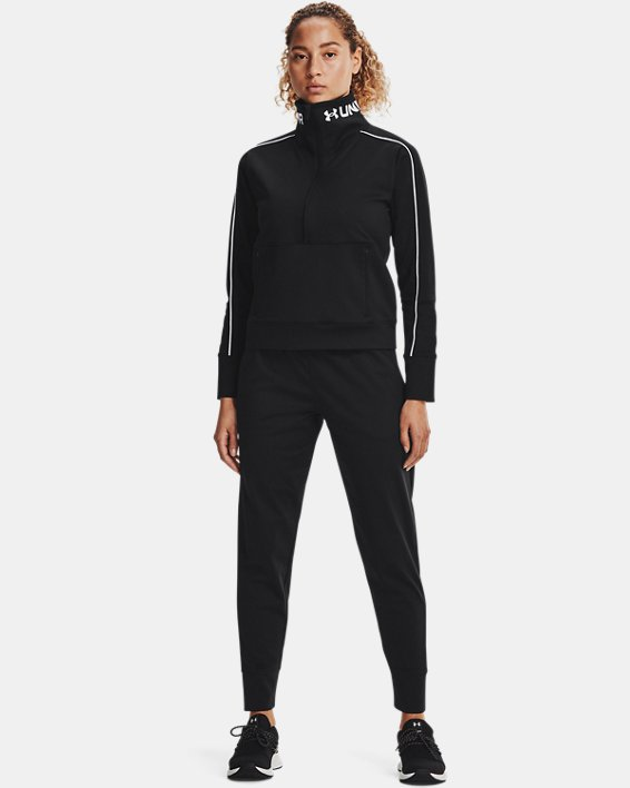 Women's UA RUSH™ Tricot Pants, Black, pdpMainDesktop image number 0