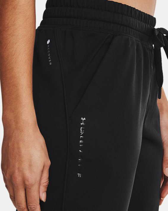 Women's UA RUSH™ Tricot Pants, Black, pdpMainDesktop image number 3