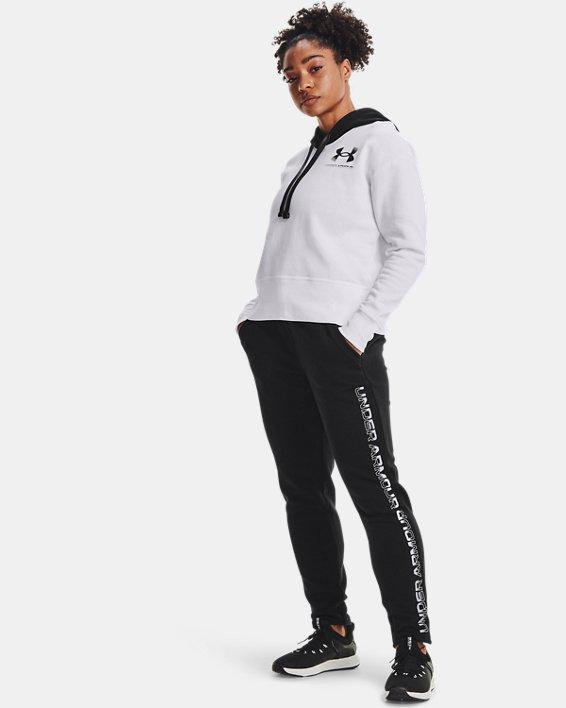 Pantalón UA Rival Fleece Gradient para mujer, Black, pdpMainDesktop image number 0