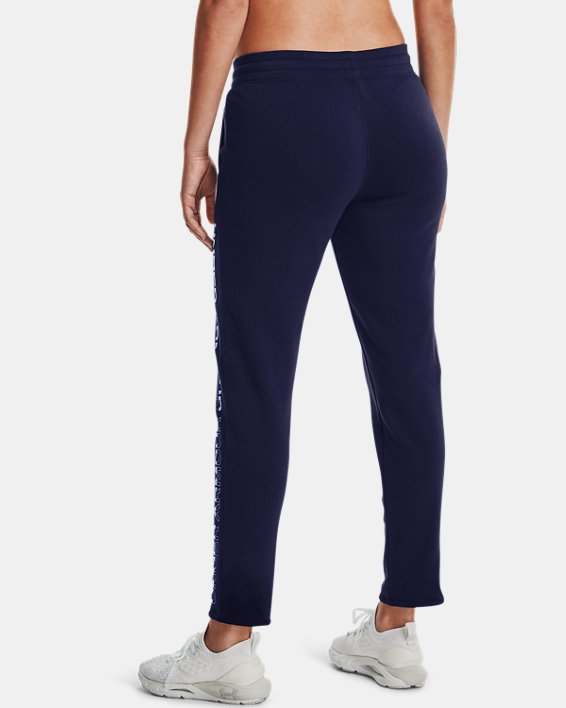 Women's UA Rival Fleece Gradient Pants, Navy, pdpMainDesktop image number 2