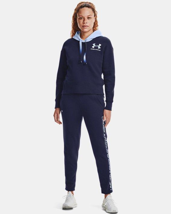 Women's UA Rival Fleece Gradient Pants, Navy, pdpMainDesktop image number 0