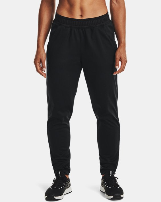 Women's UA Tricot Pants, Black, pdpMainDesktop image number 1