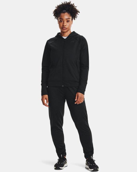 Women's UA Tricot Pants, Black, pdpMainDesktop image number 0