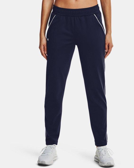 Women's UA Tricot Pants, Navy, pdpMainDesktop image number 1