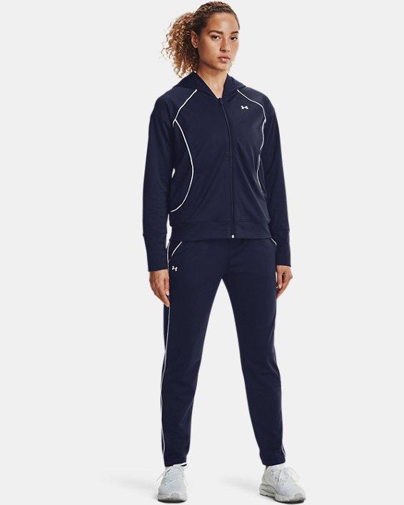 Women's UA Tricot Pants, Navy, pdpMainDesktop image number 0
