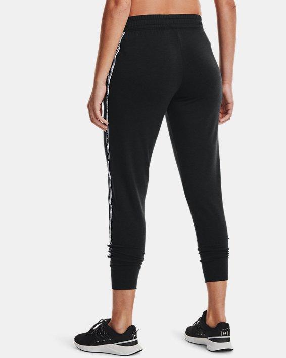 Women's UA Rival Terry Taped Pants, Black, pdpMainDesktop image number 2